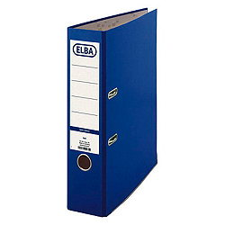 ELBA Ordner smart Colour-Papier/10457BL, blau, Rücken 80mm, B285xH318mm