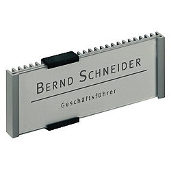 DURABLE Türbeschilderung INFO SIGN /4800-23, 149 x 52,5 mm, silber