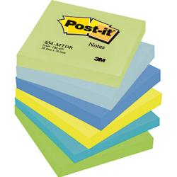 Post-it Haftnotiz Rainbow Notes 654MTDR sortiert 6 St./Pack.