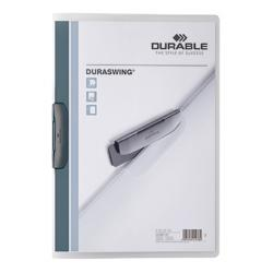 DURABLE Klemmmappe DURASWING 229037 DIN A4 transparent/graphit