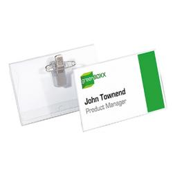 DURABLE Namenschild 810119 90x54mm Kunststoff tr 50 St./Pack.
