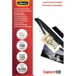 Fellowes Laminierfolie Capture 125 5397402 90x60mm 100 St./Pack.