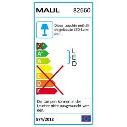 Maul LED-Lupenleuchte MAULcrystal 8266002 dimmbar weiß
